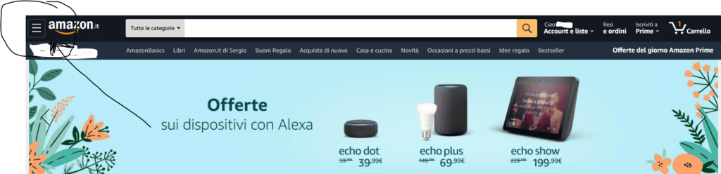 Home sito Amazon